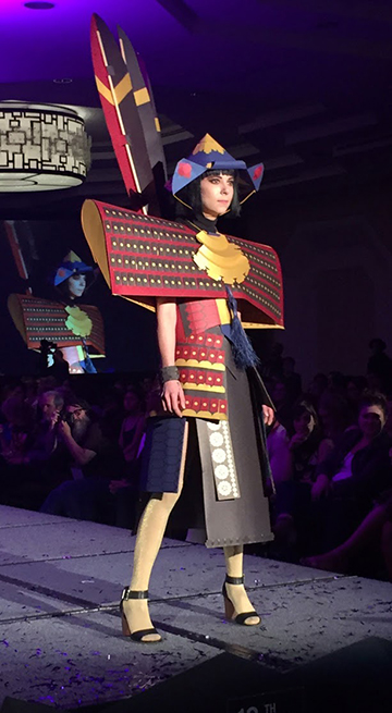 Denver-Art-Museum_Paper-Samurai-Dress_Runway_Minika-Ko