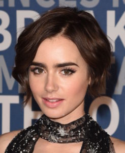 MOUNTAIN VIEW, CA - NOVEMBER 08: Actress Lily Collins arrives at the 3rd Annual Breakthrough Prize Award Ceremony at NASA Ames Research Center on November 8, 2015 in Mountain View, California. (Photo by C Flanigan/Getty Images)