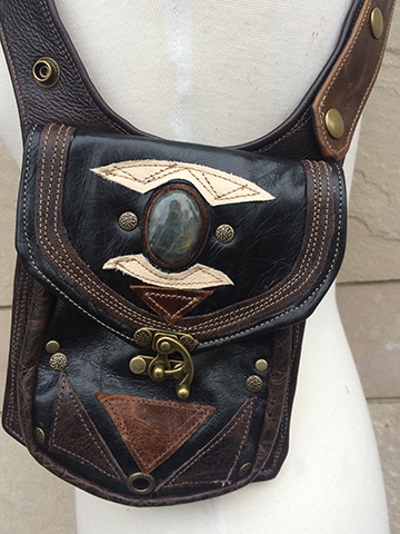 Beautiful leatherwork by designer Kristin Radakovits of Radwear