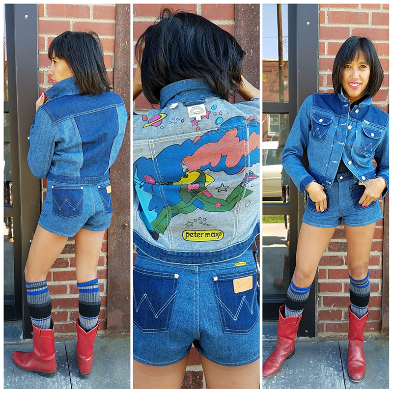 Brandi Shigley rockin' Wrangler and the Peter Max collaboration