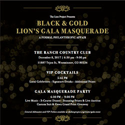 The Lion Project Black & Gold Gala